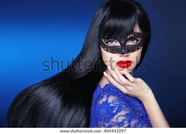 Beautiful Long Hair Makeup Girl