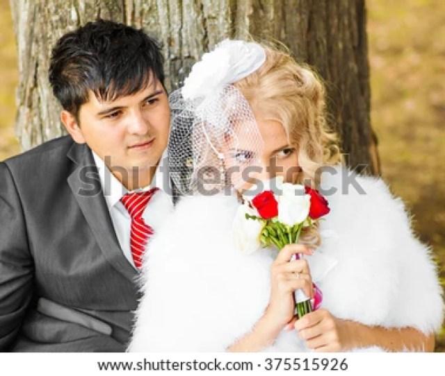 Beautiful Wedding Husband And Wife Lovers Man Woman Bride And Groom