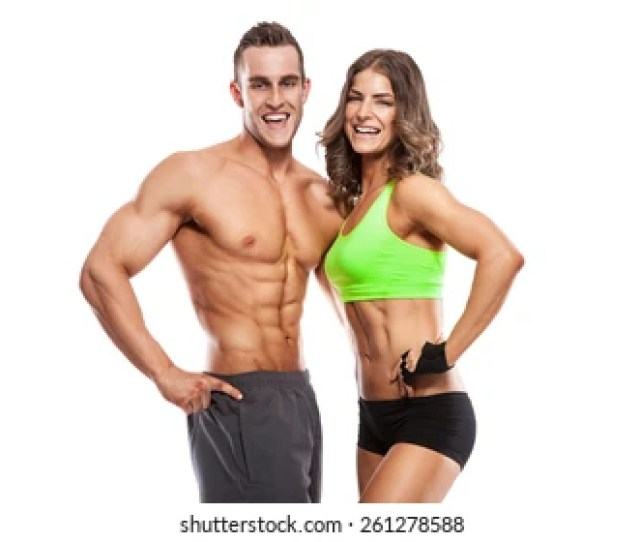 Fitness Models Male Female Images Stock Photos Vectors