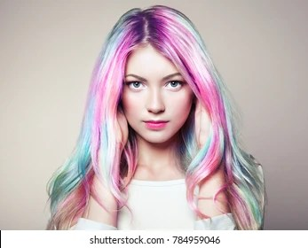 dyed hair images stock