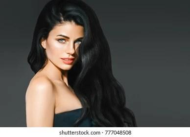 long black hair woman