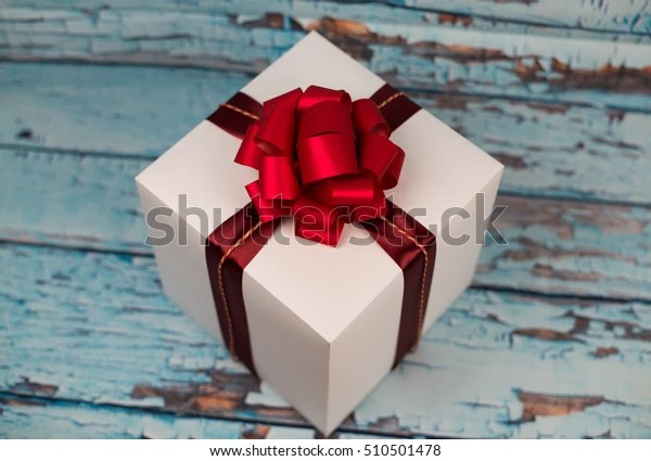 big gift box red