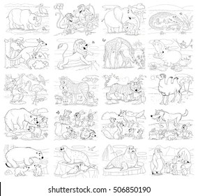 Kids Coloring Pages Images, Stock Photos & Vectors