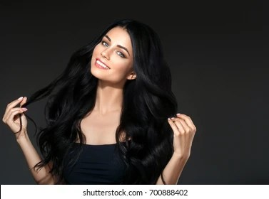 black hair images stock