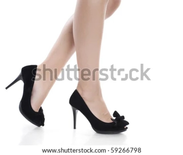 Black High Heels And Sexy Legs
