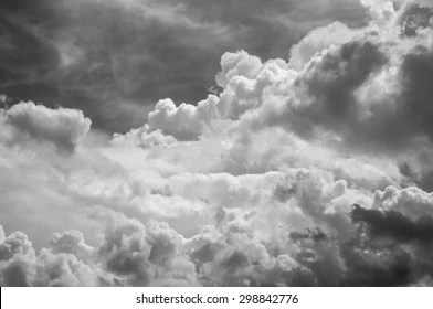 black white cloud images
