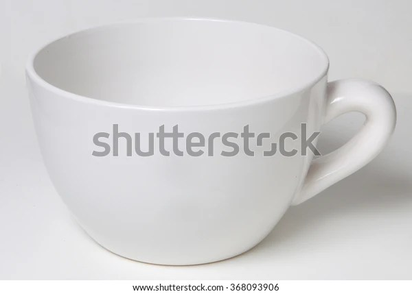 blank cup stock photo