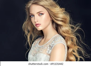 blonde hair images stock