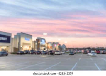 exterior mall shopping parking center empty texas sunset lots blurred retail humble complex modern shutterstock bokeh uncovered