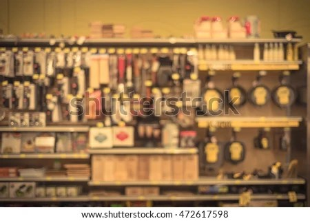 kitchen tools store black distressed cabinets blurred image utensils on shelf stock photo edit now of display at in houston texas usa