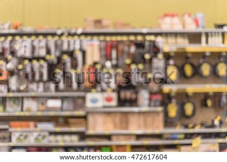 kitchen tools store remodeling projects blurred image utensils on shelf stock photo edit now of display at in houston texas usa