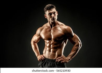 flexing muscles man images