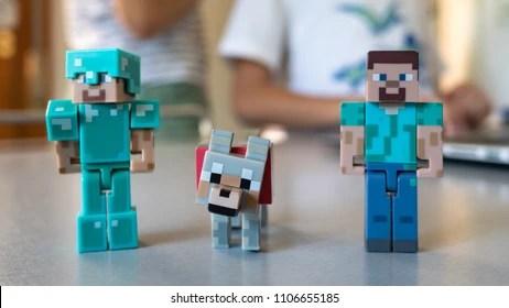 kids minecraft stock photos