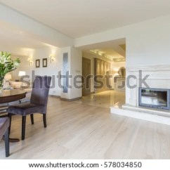 Elegant Living Rooms With Fireplaces Arabian Nights Room Bright Fireplace Open Stock Photo Edit Now The To Well Lighted Corridor