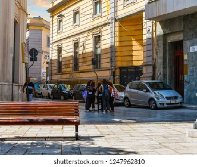 Brindisi Italy September   A Group Of Young Italian Teenage Girls Gather