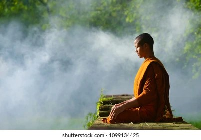 buddhist monk images stock