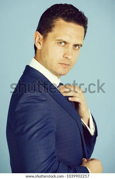 businessman handsome boss stylish