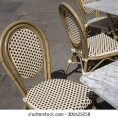 Parisian Cafe Table And Chairs Spotlight Australia Chair Covers Paris France Black Stock Photo Edit Now