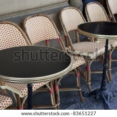 Parisian Cafe Table And Chairs Tommy Bahama Beach Chair Tables Paris France Europe Stock Photo Edit Now In