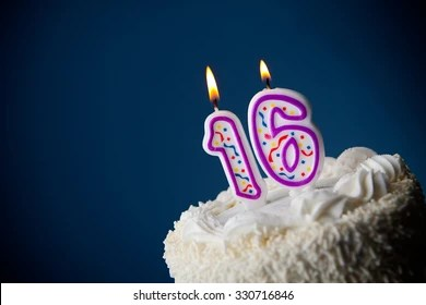 16th birthday images stock
