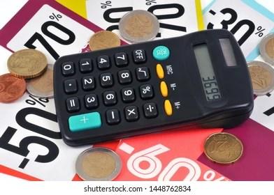percentage calculator stock photos