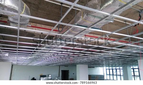 Ceiling Grid Work Luxury Buildingabove Soffit Stock Photo (Edit Now) 789166963