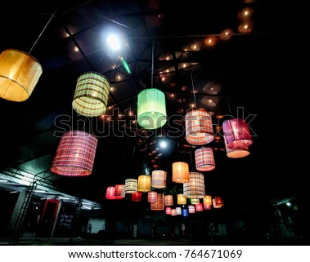 Ceiling Lantern Made From Bamboo Weave Asian Style Natural Interior Inspiration Nature Art Decoration