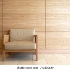Modern Wood Chair Swivel Disassembly Images Stock Photos Vectors Shutterstock A Frame With Wooden Wall For Copy Space Minimal Interior