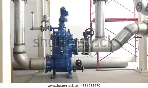 Chilled Water Pipe Installed Filter Machine Stock Photo (Edit Now) 556083970