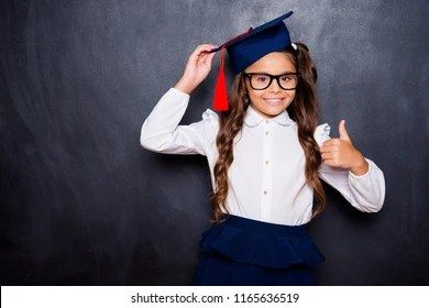 kids graduation cap stock