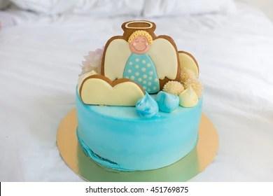 baptism cake images stock