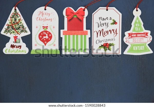 Christmas Decorations Greetings Gift Label Stock Photo Edit Now 1590028843