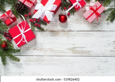 christmas presents images stock