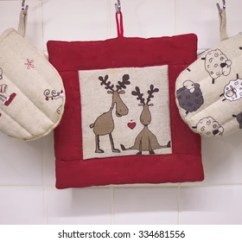 Kitchen Mittens How Much Are Remodels Royalty Free Mitten Images Stock Photos Vectors Christmas Set Of Equipment For The And Pillow