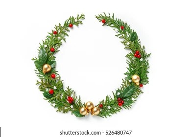 christmas wreath images stock