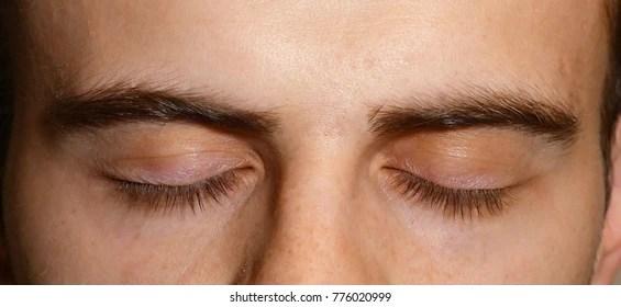 men eyelashes images stock