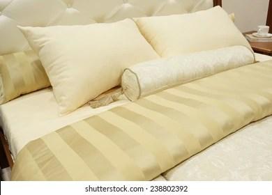 https www shutterstock com image photo closeup two pillows bolster 238802392