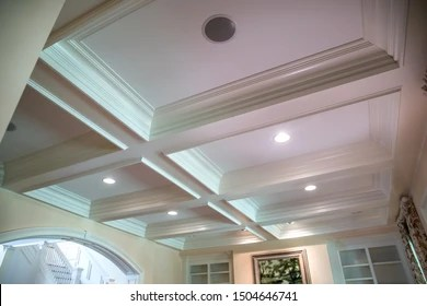 https www shutterstock com image photo coffered ceiling natural light large windows 1504646741