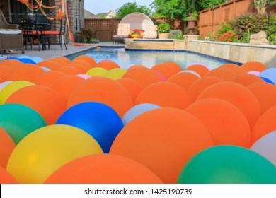 swimming balloon stock photos