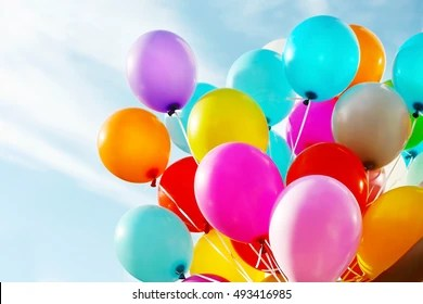 birthday balloons images stock