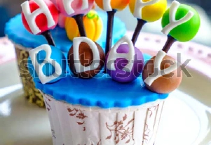 Colorful Birthday Bday Cake Cupcake Pig Stock Photo Edit Now