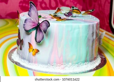 Butterfly Cake Images Stock Photos Vectors Shutterstock