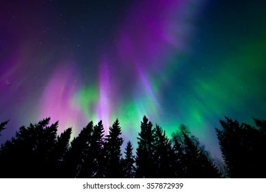 northern lights images stock