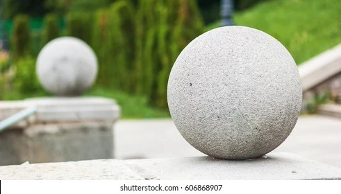 round concrete ball images
