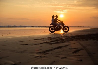 Wallpaper Woman Girl Wedding Couple Motorcycle Riding Young Images Stock Photos