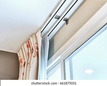 https www shutterstock com image photo curtain rail living room decoration interior 661875031