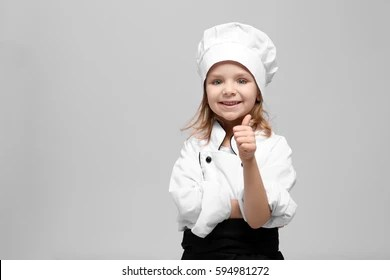 chef girl images stock