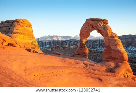 Delicate Arch Sunset One Most Famous Stock Photo (Edit Now) 123052741 - Shutterstock