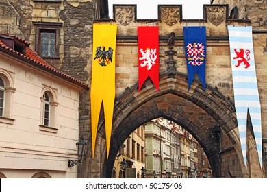 medieval flag images stock