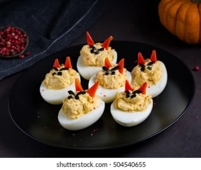 Deviled Eggs Appetizer For Halloween Party